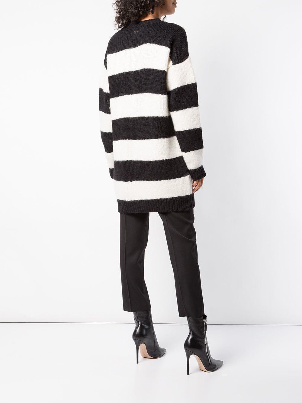 DSquared² - Black Oversized Knitted Striped Sweater - Lyst. View fullscreen 7e0ca57f3
