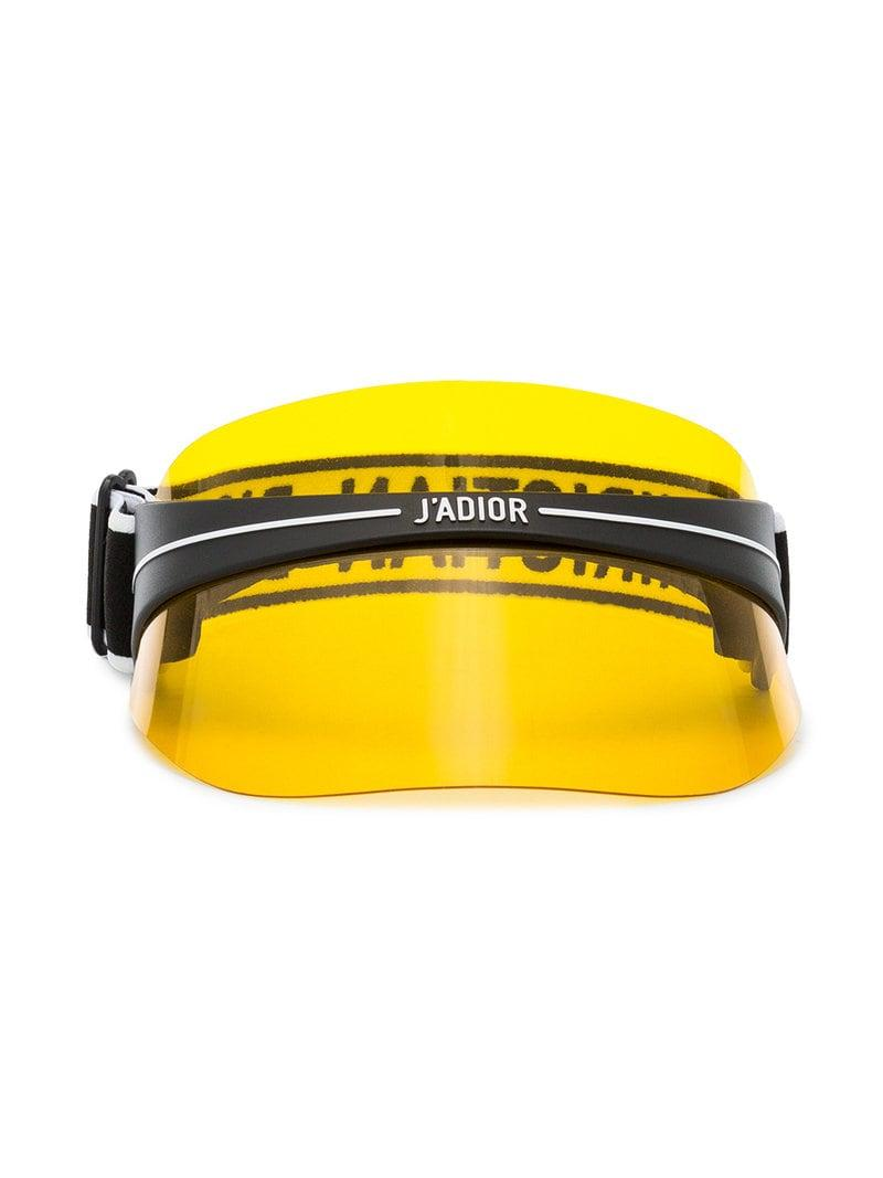 a40c0aaa4d8 Lyst - Dior Diorclub1 Visor in Yellow
