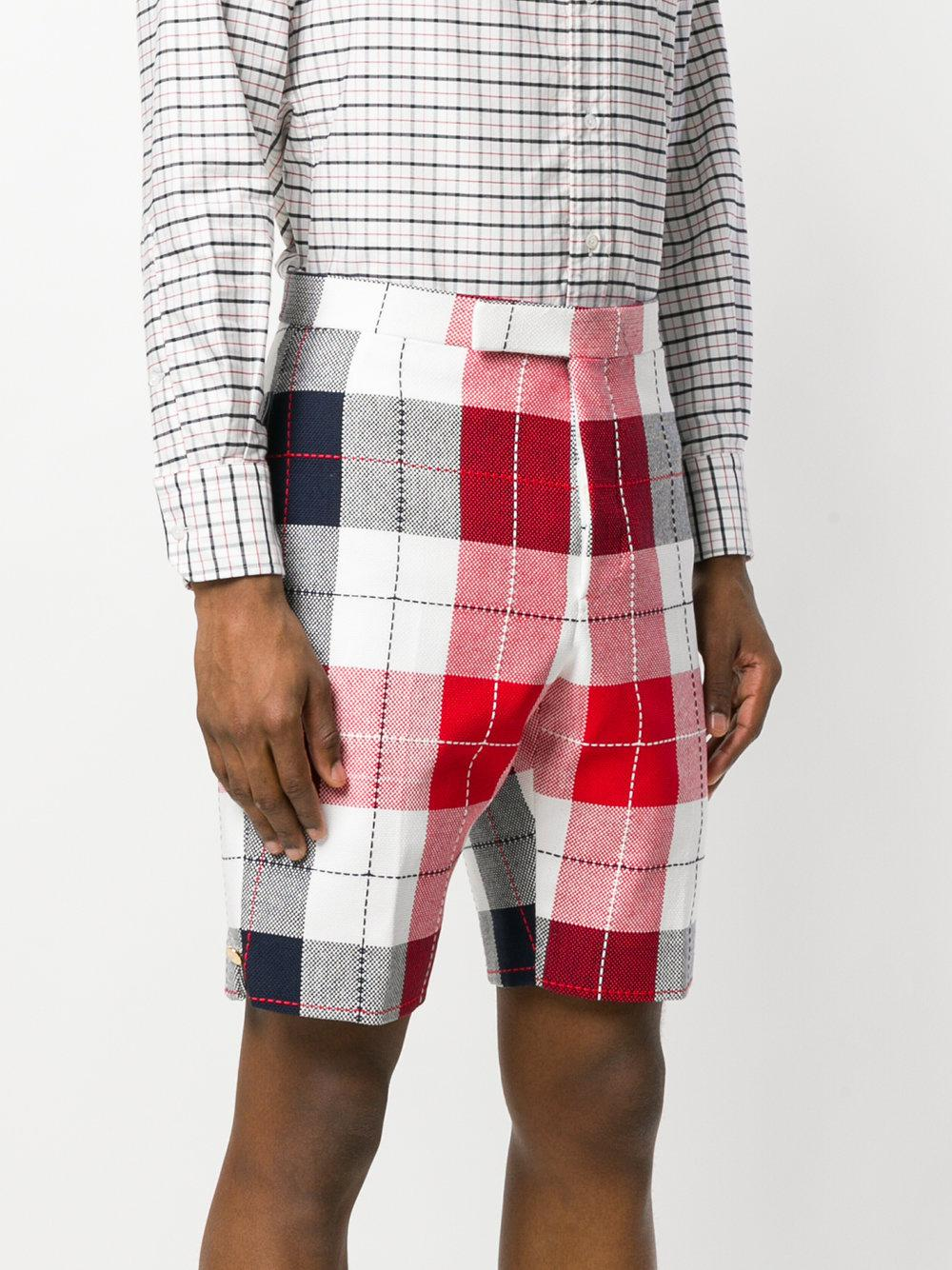 Classic Backstrap Short In Large Buffalo Check Summer Tweed - Multicolour Thom Browne Shopping Online Sale Online Clearance Free Shipping New Arrival For Sale gINuG8