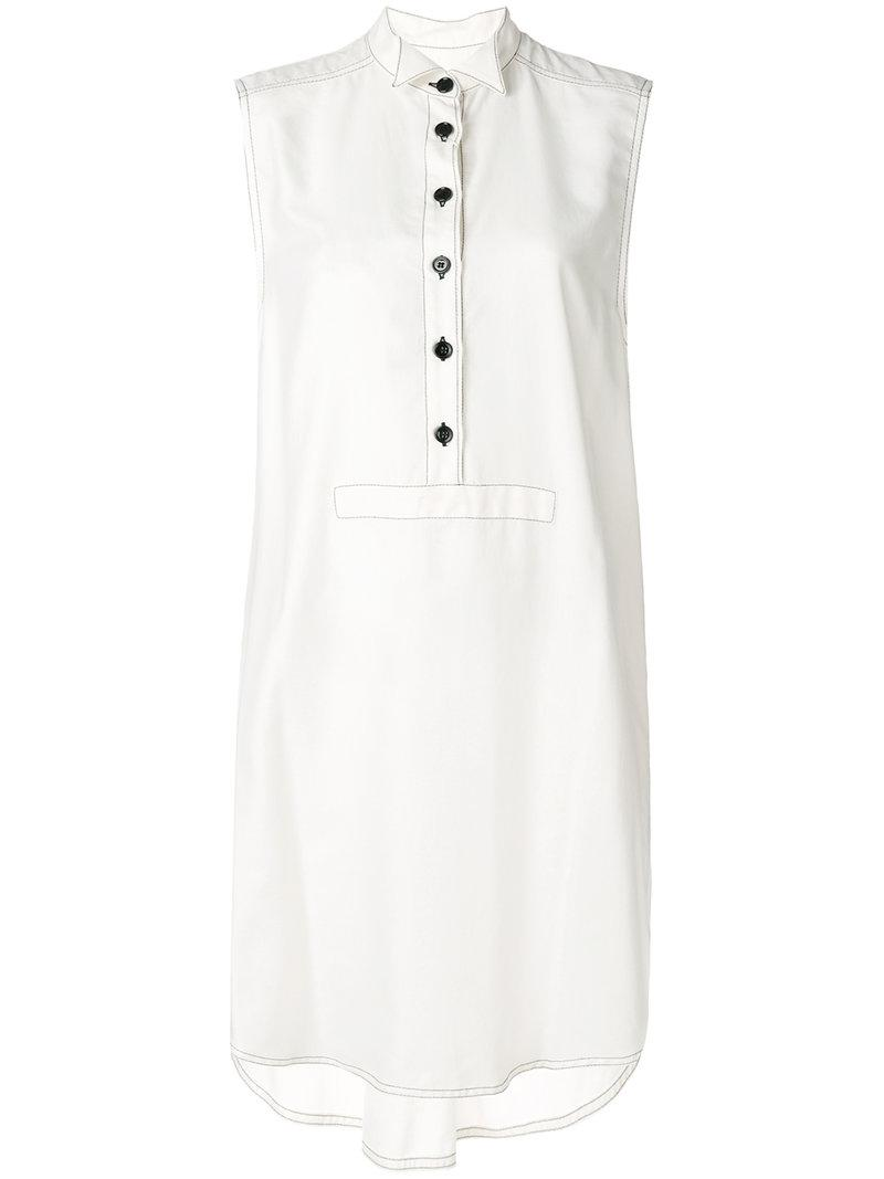 Mm6 Maison Margiela oversized mandarin collar shirt dress Cheap Shopping Online Discount Low Shipping Outlet Free Shipping Finishline Sale Online TiZfKV69DF