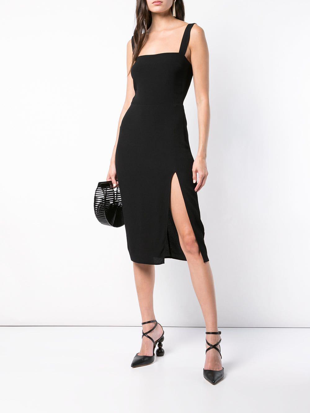 7f179976bc3 Reformation Christina Crepe Dress in Black - Lyst
