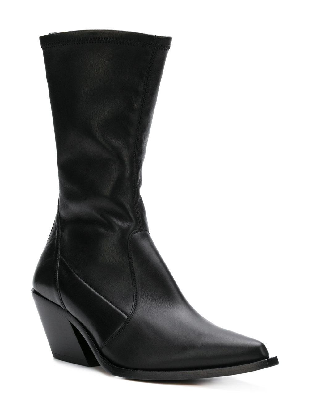 8778453ddbbe Lyst - Givenchy Rear-zip Pointed Boots in Black