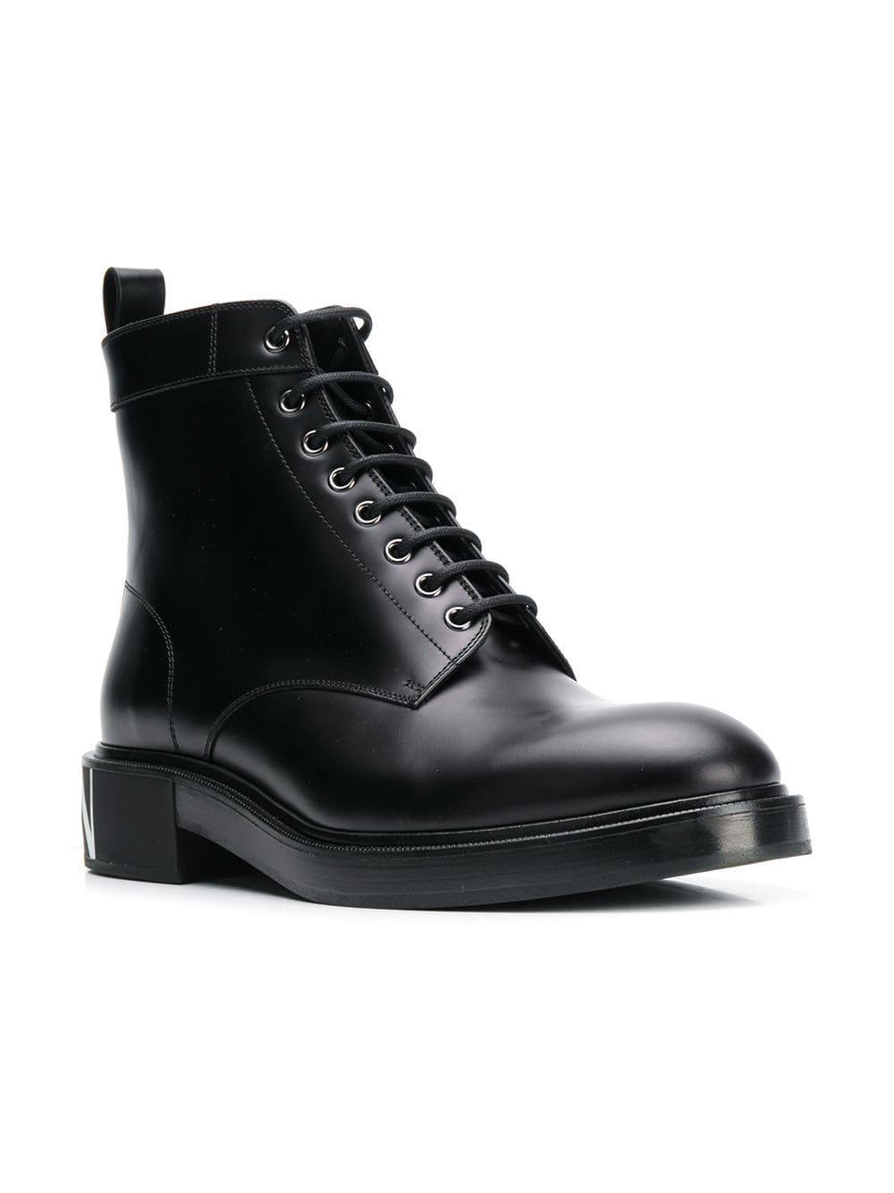 26fc17548c50fa Lyst - Valentino Garavani Vltn Combat Boots in Black for Men