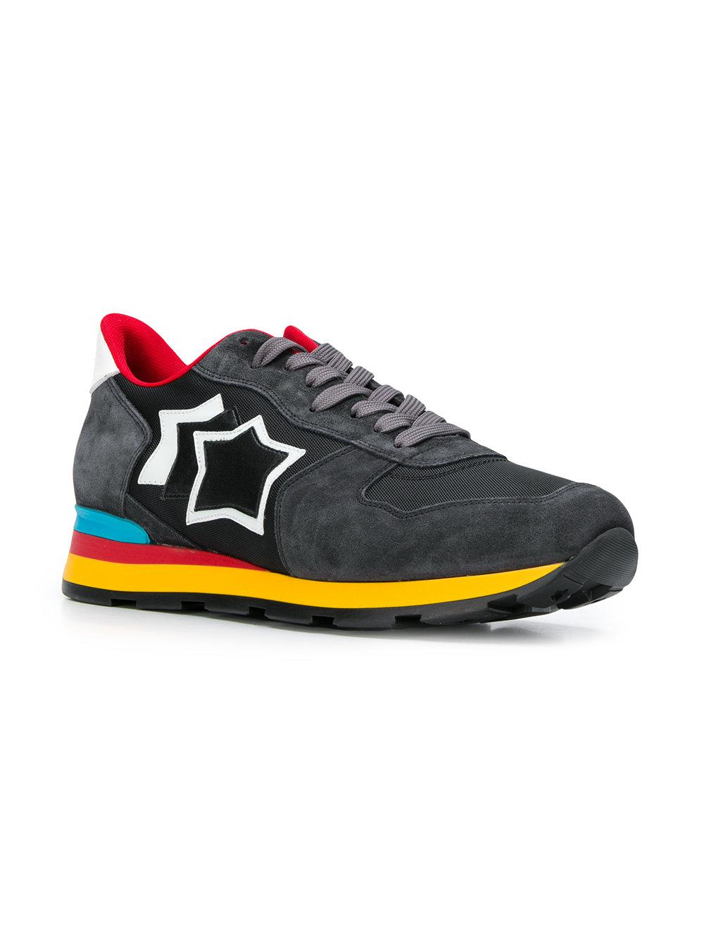 77dccd472a0 Atlantic Stars Rainbow Sole Lace Up Trainers in Black for Men - Lyst