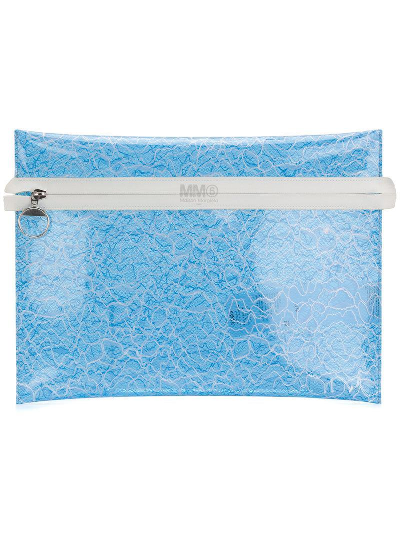 transparent clutch - Blue Maison Martin Margiela xEzBy3aG