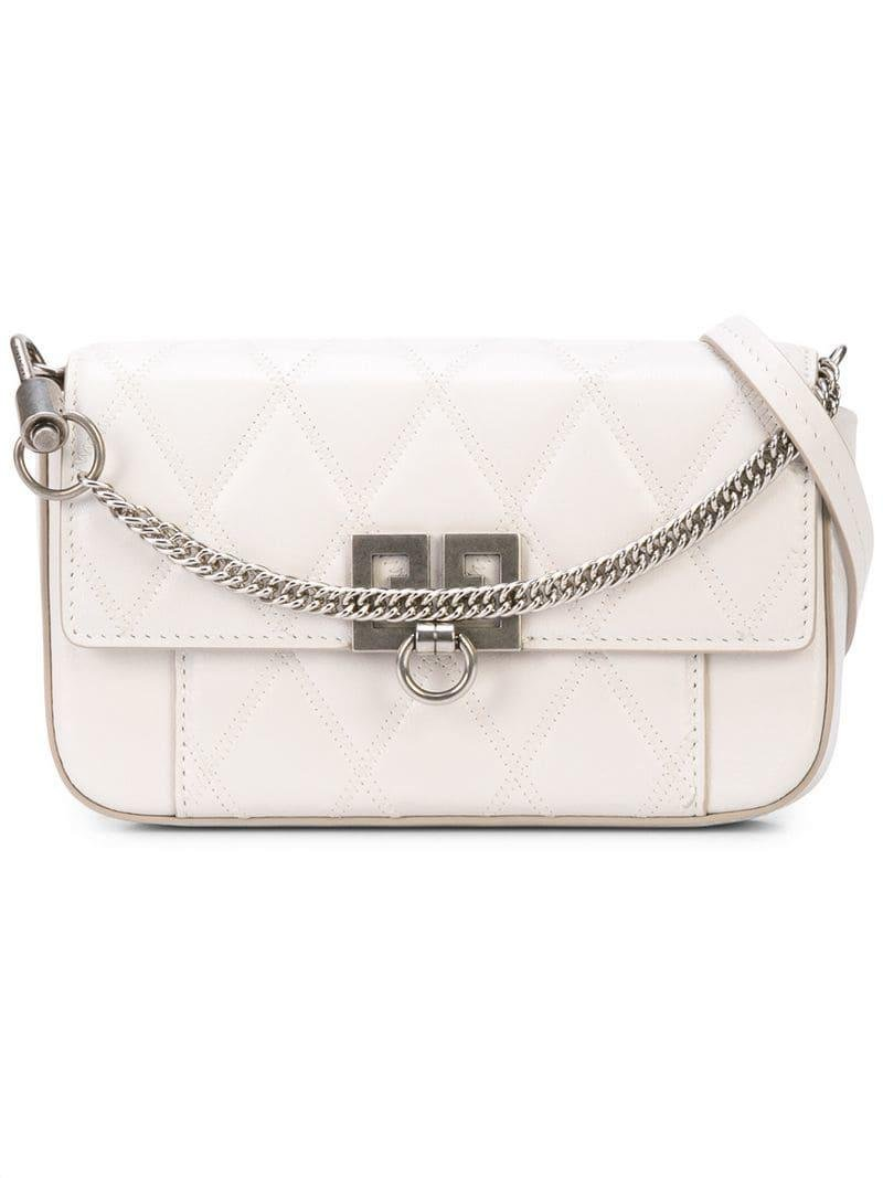 7f2bc438b3ee Givenchy Mini Pocket Bag in White - Lyst
