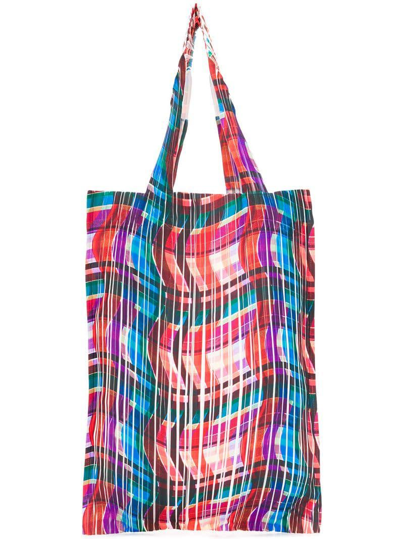 Pleats Please Issey Miyake Pleated Shopper Tote in Red - Lyst 3c5cbed4af