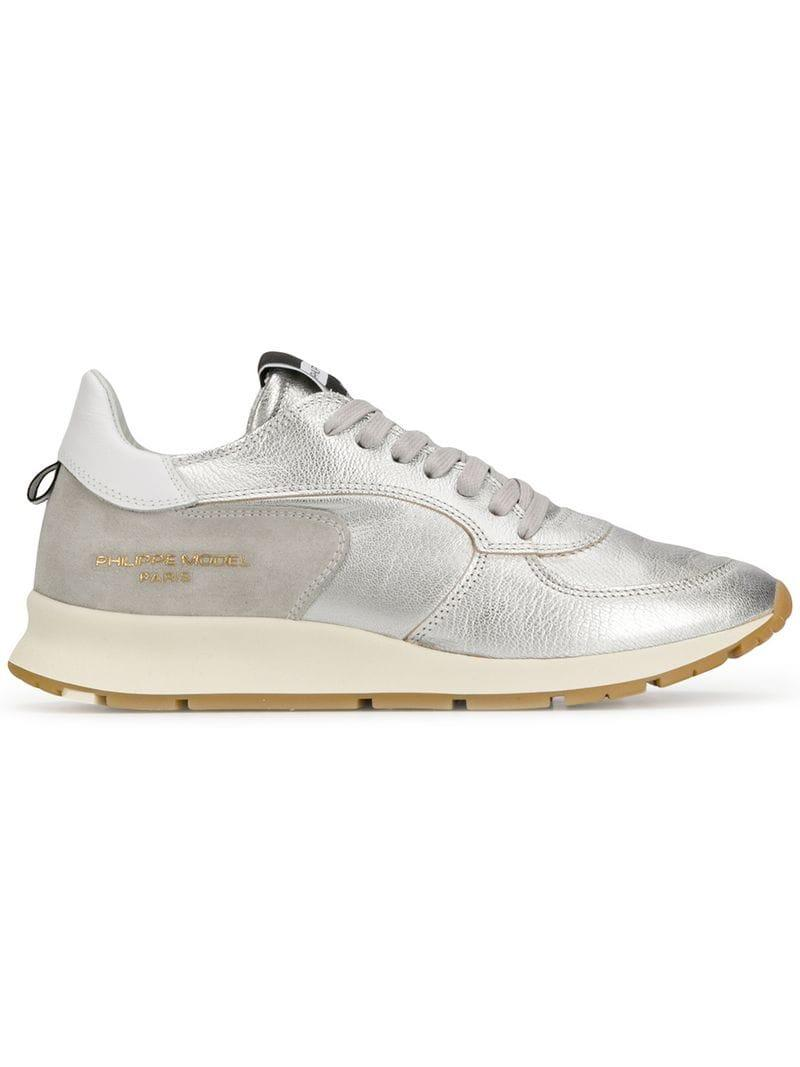 Lyst - Philippe Model Paris Low Top Trainers in Metallic for Men 2a74f2e0c