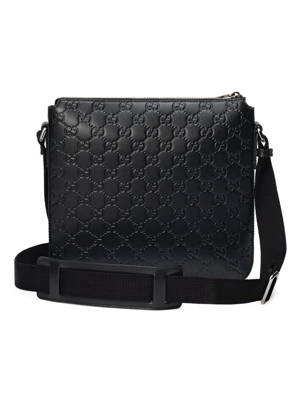 5fa09a47f Gucci Signature Messenger Bag in Black for Men - Save 15% - Lyst