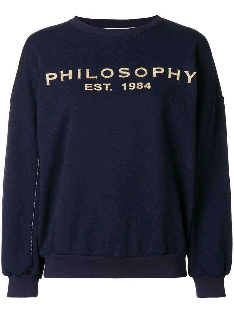 logo print sweatshirt - Blue Philosophy di Lorenzo Serafini Cheap Sale Latest Outlet Factory Outlet Shopping Online Best Seller Sale Online zuiG6YWqBx