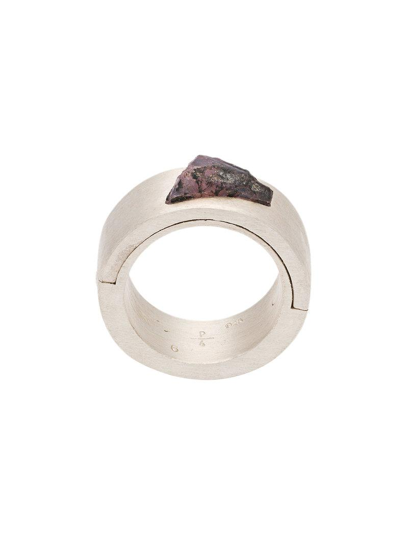 Parts Of Four Mega Pave Sistema ring - Metallic XwdTaA2rDd