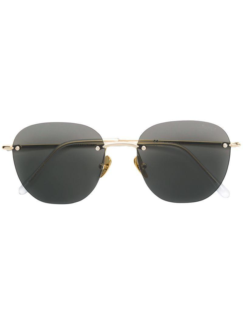 e1d0bd7707b7e7 Retrosuperfuture Super By Lou Sunglasses in Black - Lyst