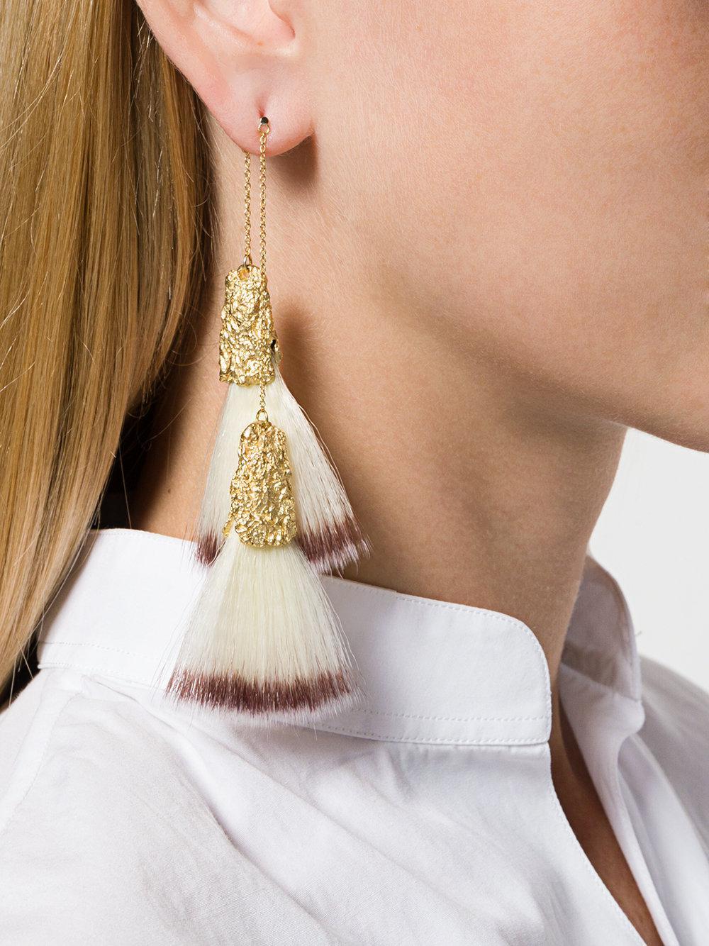 canvas double earring - Metallic Niza Huang 9Jpkw