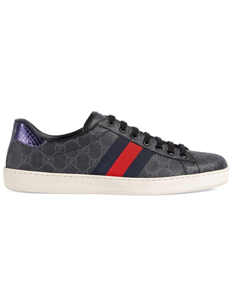 6241c57024a93 Gucci Ace GG Supreme Sneaker in Black for Men - Lyst
