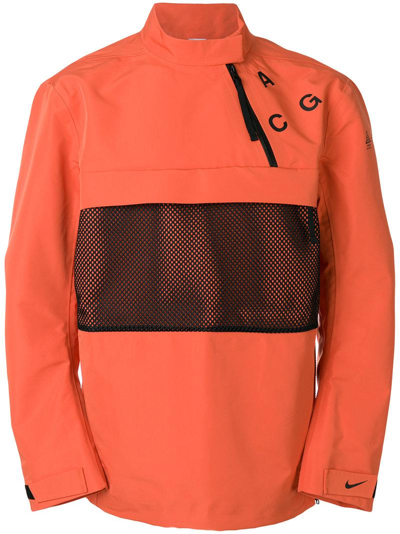 Nike Lab Acg Pullover Shell Jacket In Orange For Men Lyst