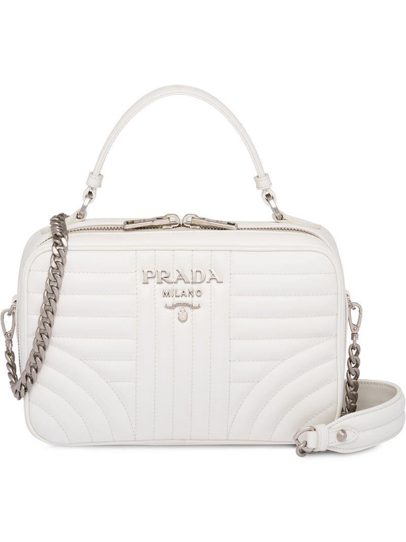 85b0bc8a749c Prada - White Diagramme Bag - Lyst. View fullscreen