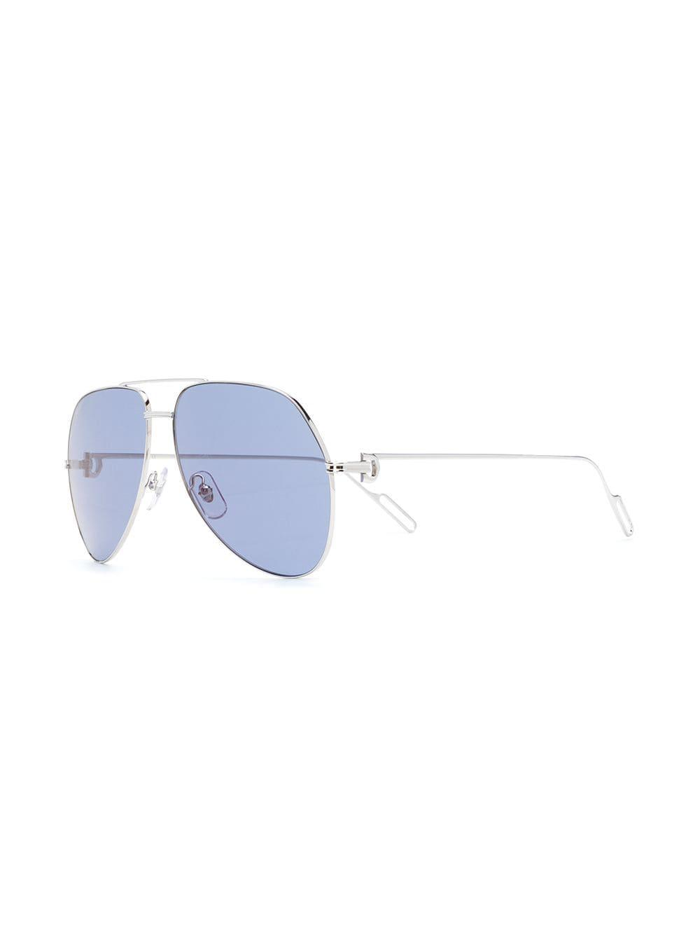 04349adc93 Lyst - Cartier Aviator Sunglasses in Metallic for Men