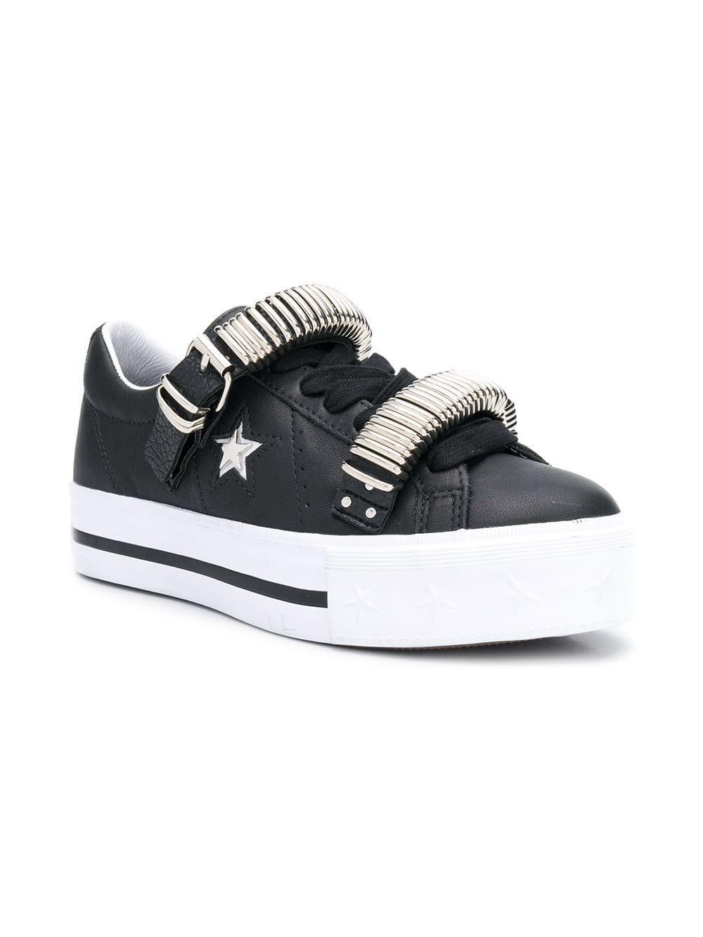 482ba08cb39849 Converse - Black One Star Platform Sneakers - Lyst. View fullscreen