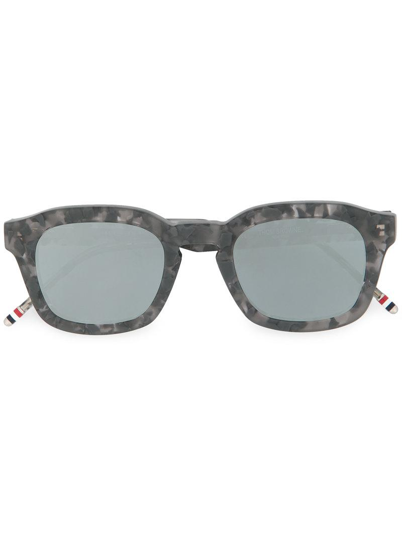 c6e54b293bb Lyst - Thom Browne Marble Effect Square Sunglasses in Gray