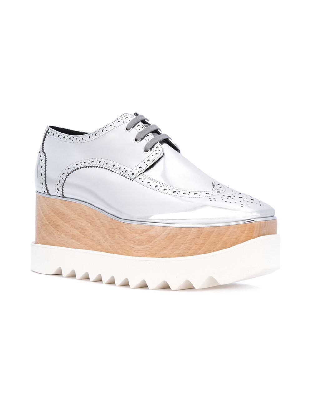 0c3306c2e3c0 Lyst - Stella McCartney Metallic Elyse Shoes in Gray