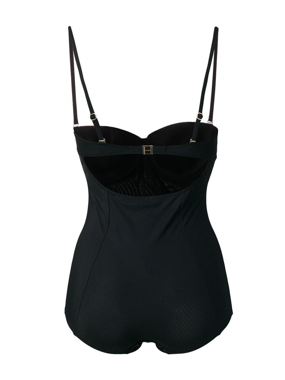 7cb4a80844 Dolce   Gabbana - Black Balconette Swimsuit - Lyst. View fullscreen
