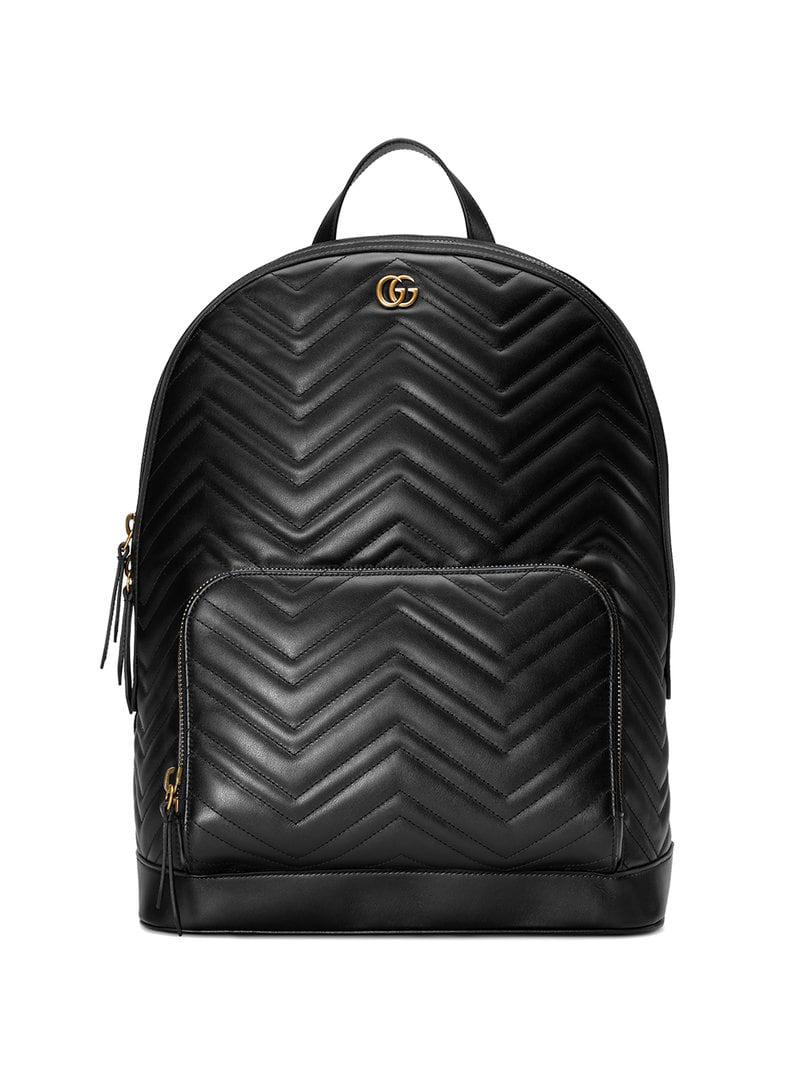 Gucci Gg Marmont Matelassé Backpack in Black for Men - Save 17% - Lyst e2165baa2d9b7
