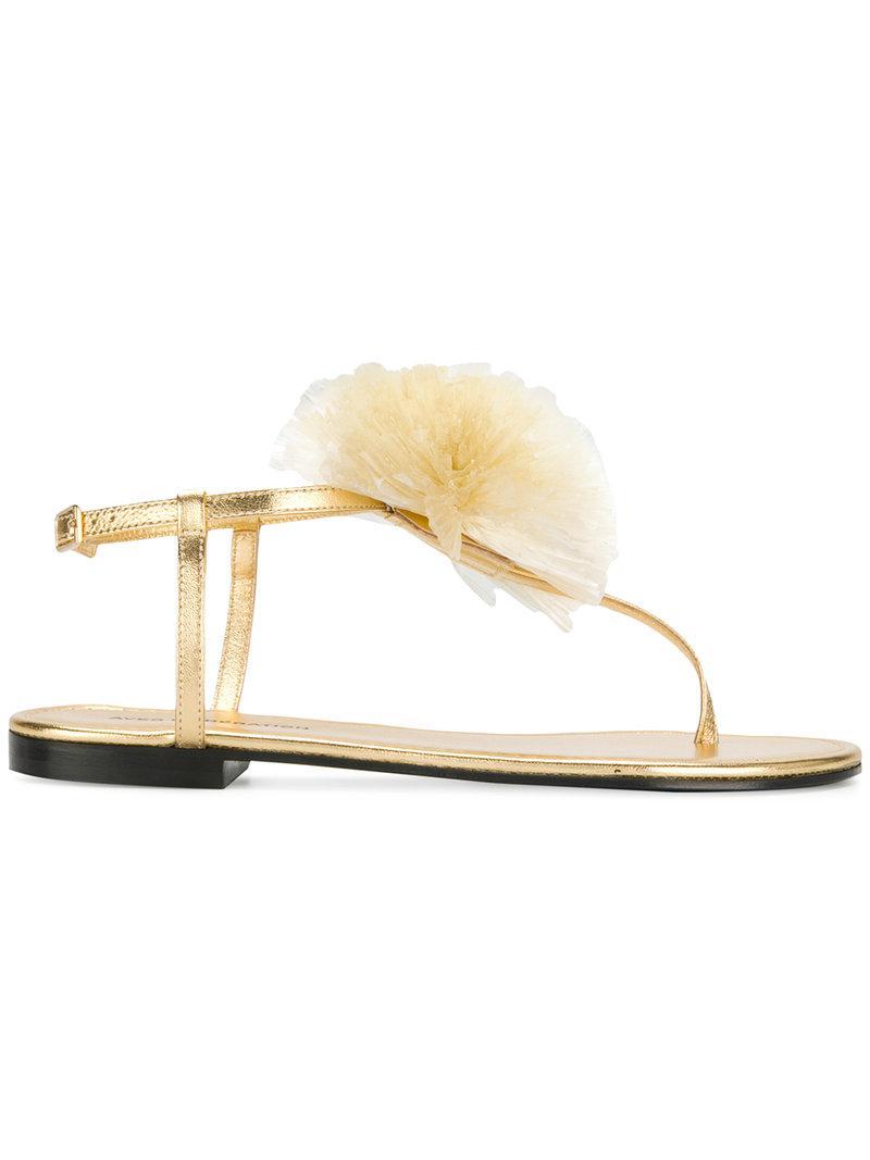 appliqué detail sandals - Metallic Avec Moderation dtxhw6