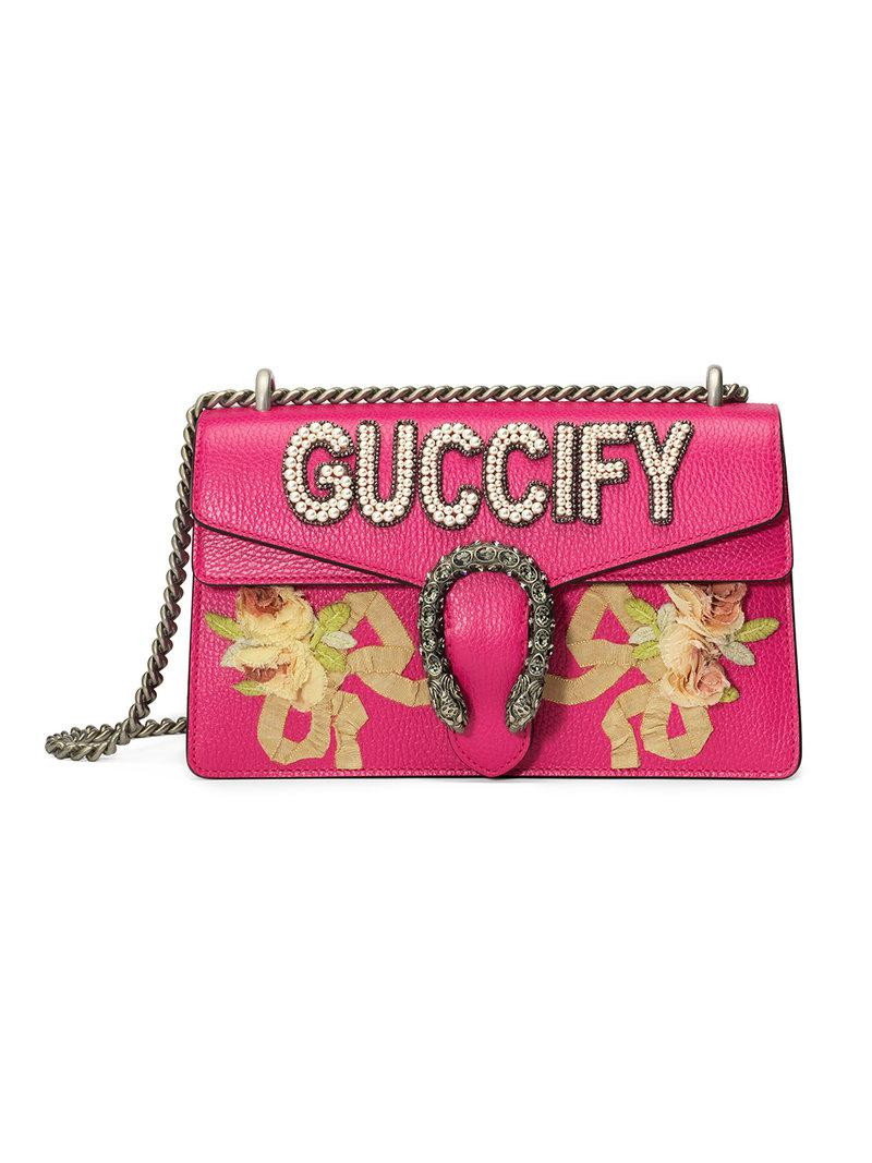 4f699cc8cc9f Gucci Dionysus Small Shoulder Bag in Pink - Lyst