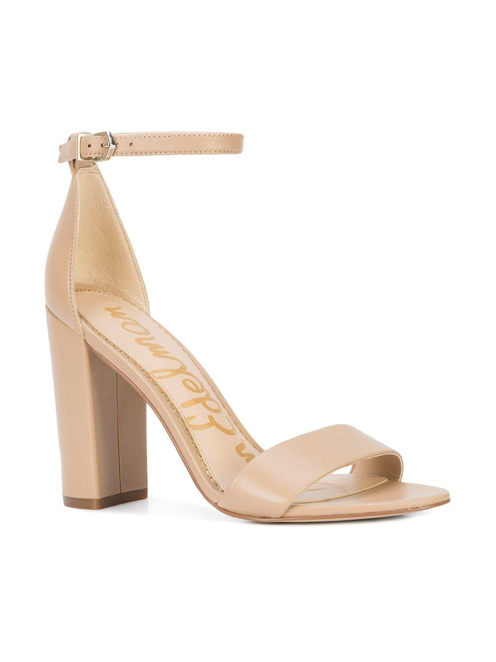 f219fd2e644 Lyst - Sam Edelman Block Heel Sandals in Natural