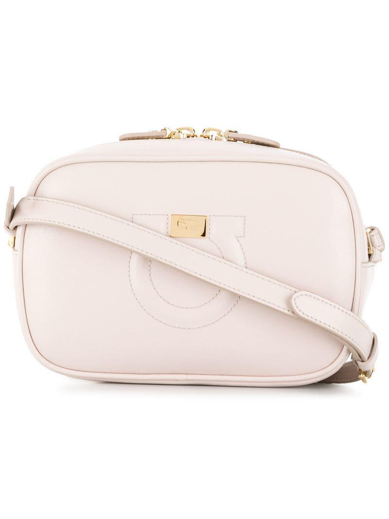 fe55e5dd727c Lyst - Ferragamo City Leather Shoulder Bag in Pink - Save 19%