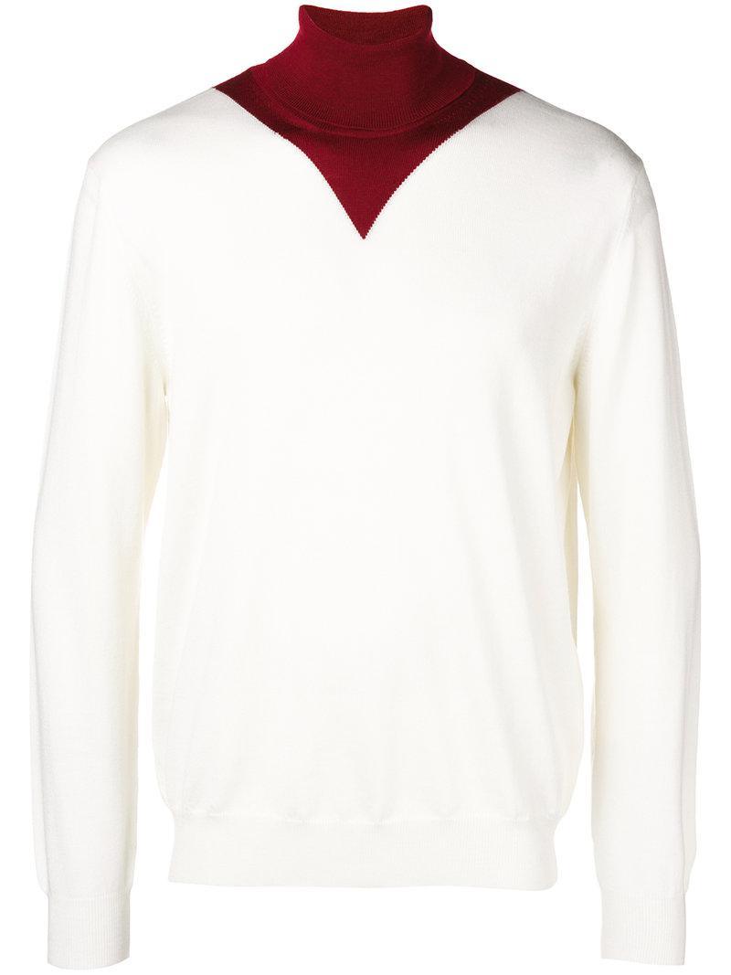 adf2896d255 Lyst - Pull à col roulé contrastant KENZO pour homme en coloris Blanc