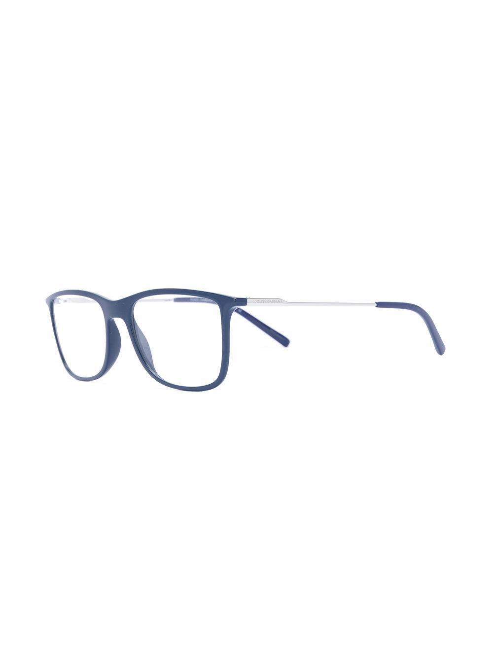 1bdcc3282b20 Dolce   Gabbana Square-frame Glasses in Blue - Lyst