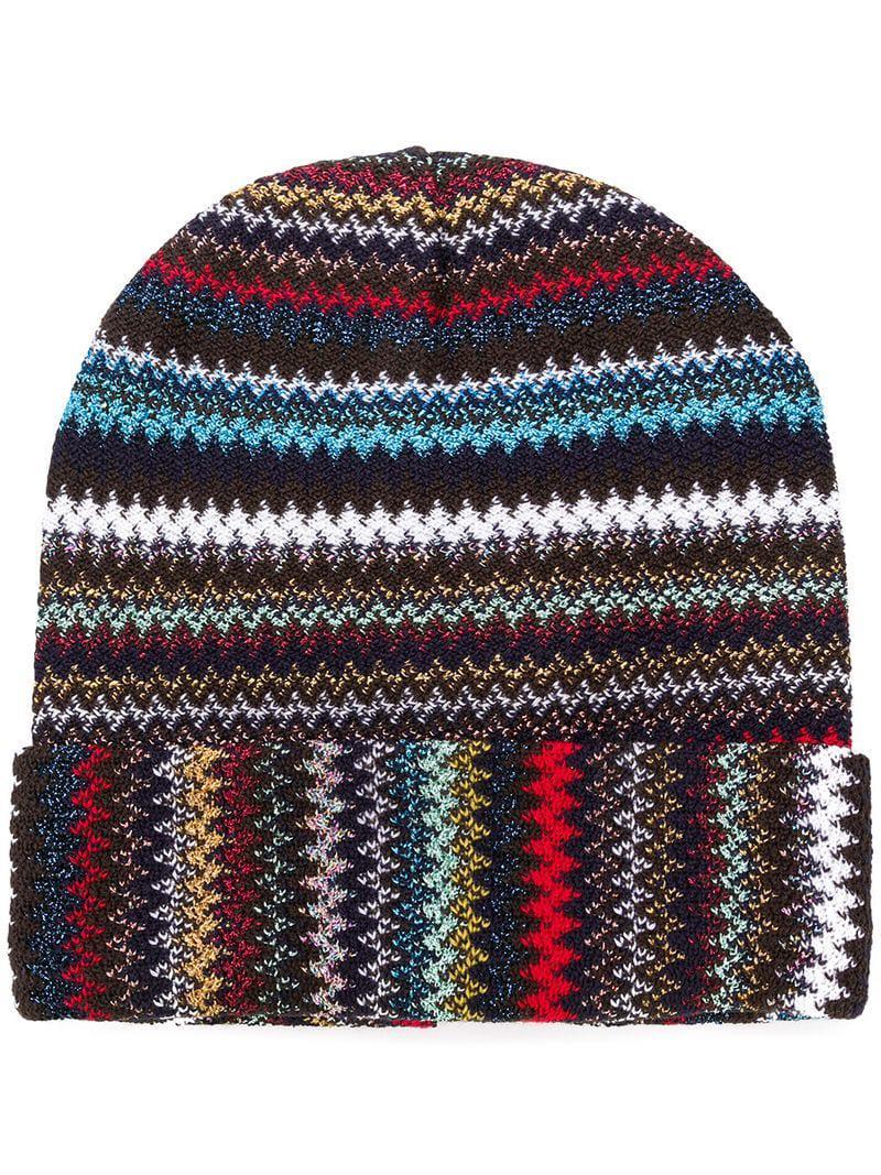 cee581de80d Missoni - Black Knitted Beanie Hat - Lyst. View fullscreen