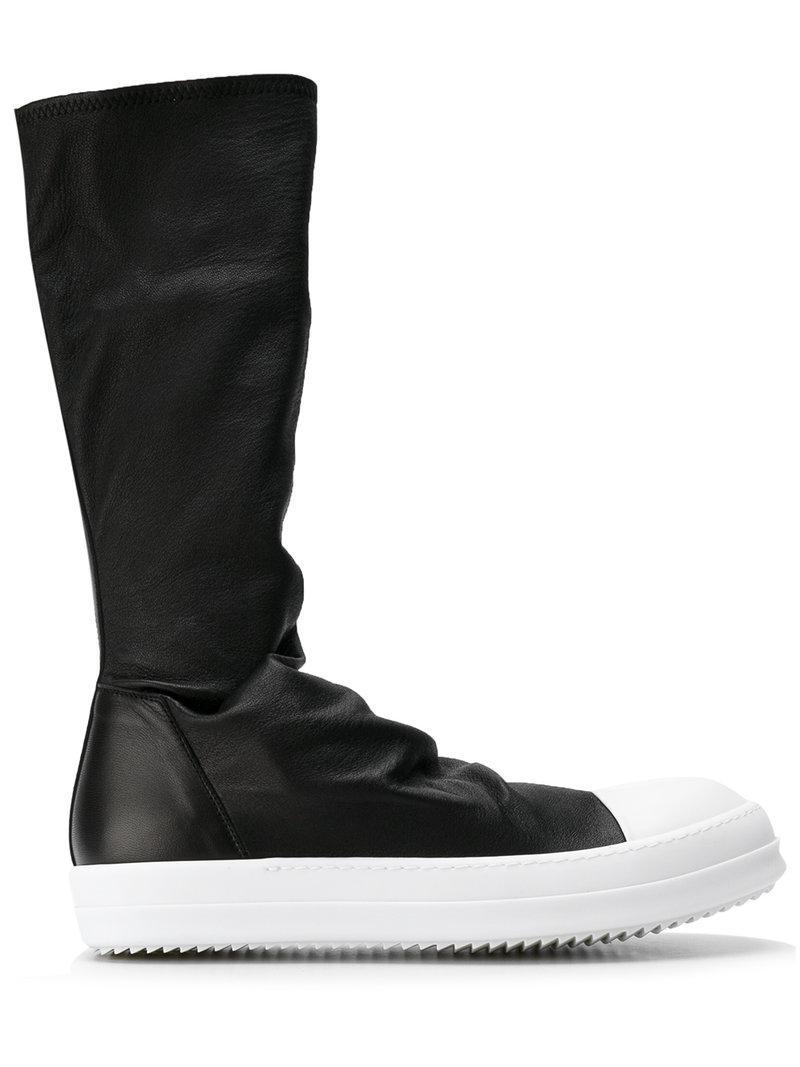 606b011ff Rick Owens Sock Sneak Boots in Black for Men - Lyst