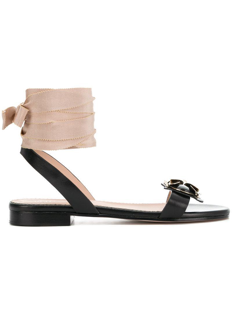 tie around sandals - Nude & Neutrals Red Valentino XNHk92Q