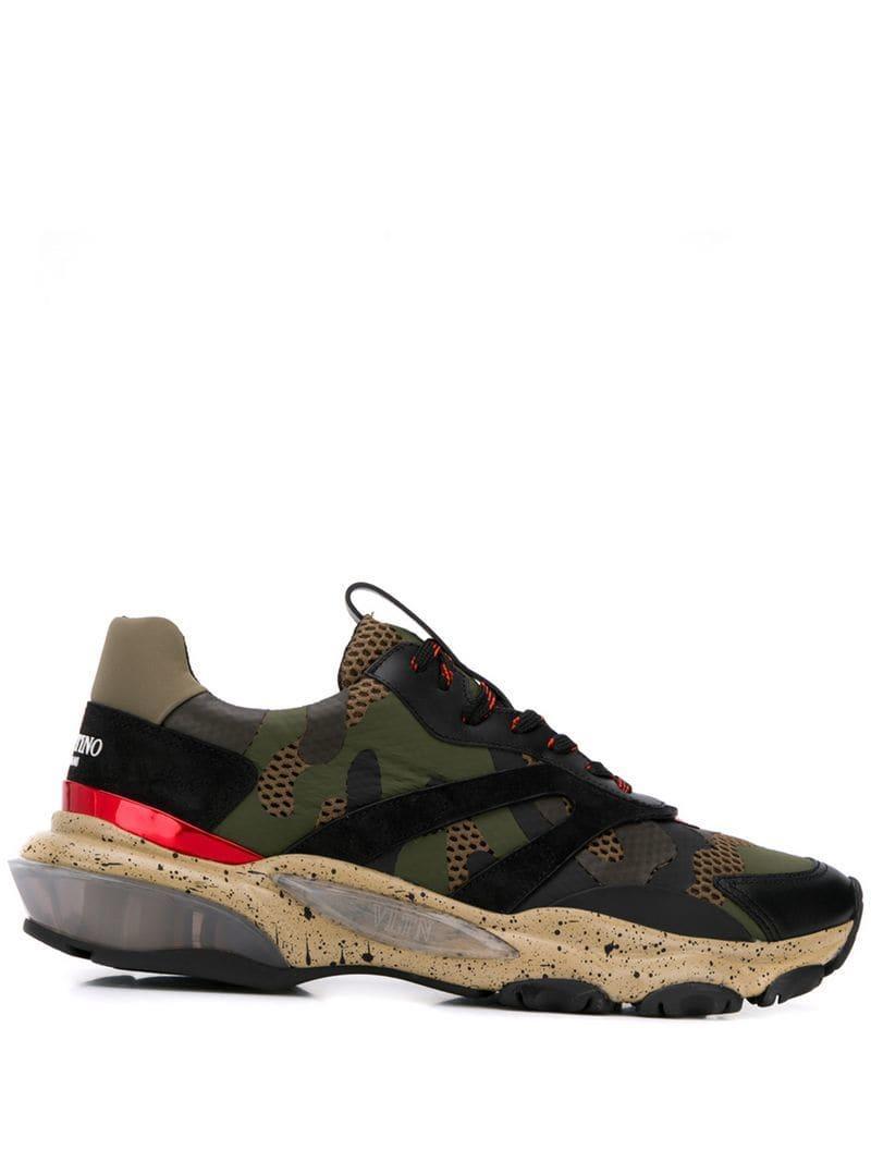 da02c3ecb907c Valentino Garavani Bounce Sneakers in Black for Men - Lyst
