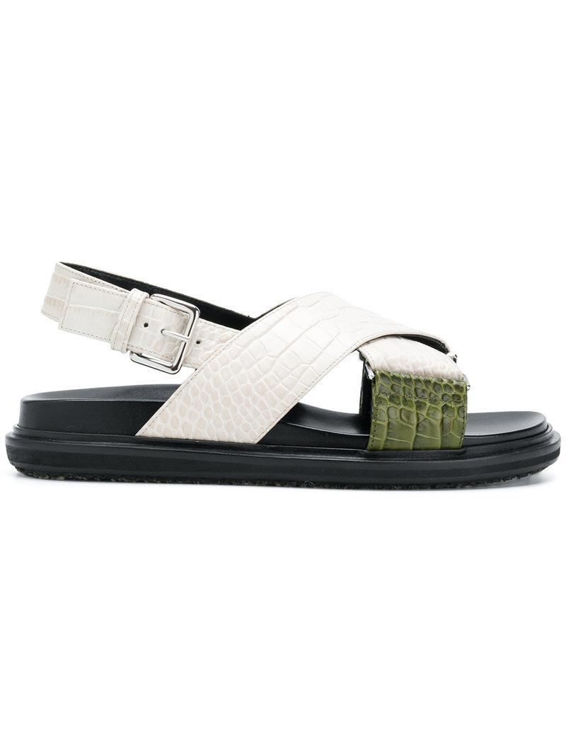 Fussbett two-plate sandal - White Marni fD6wg7