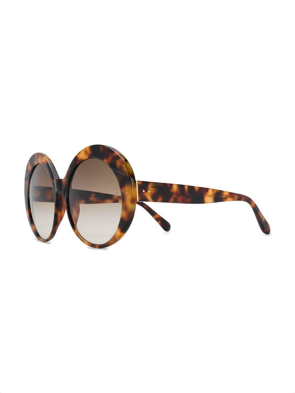1b4efc371d Lyst - Linda Farrow Oversized Sunglasses in Brown