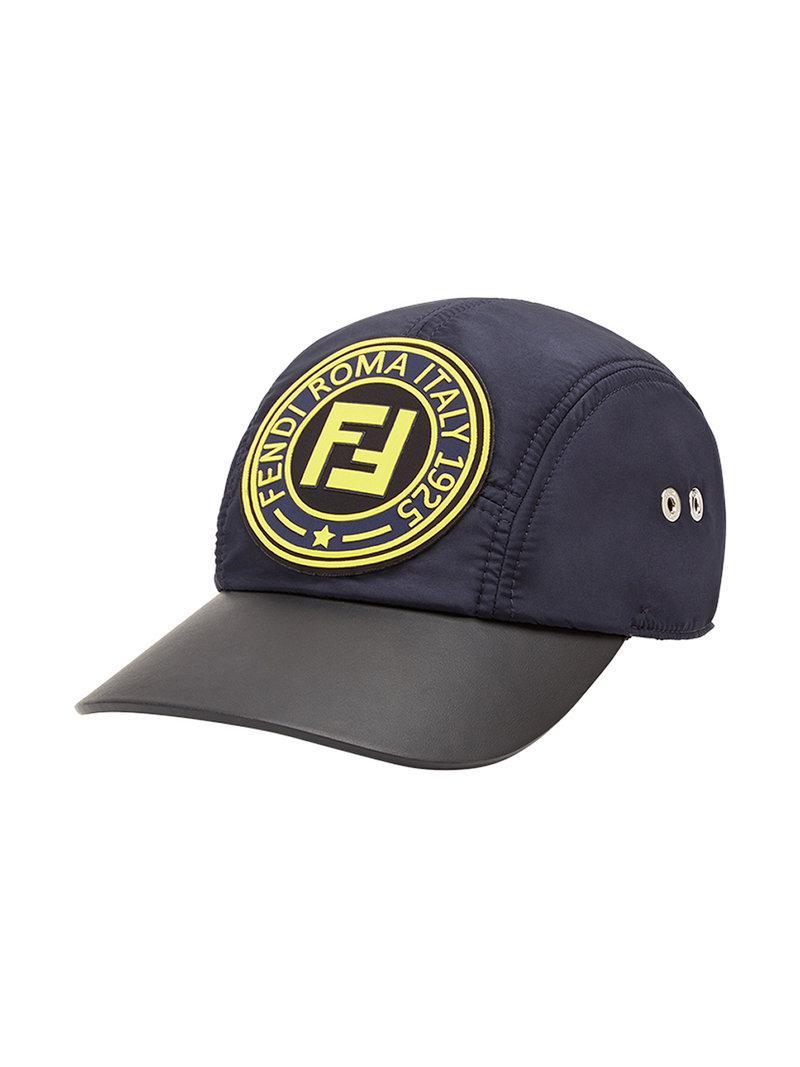 Fendi Logo Patch Baseball Cap in Blue for Men - Lyst c58c13e68a5f