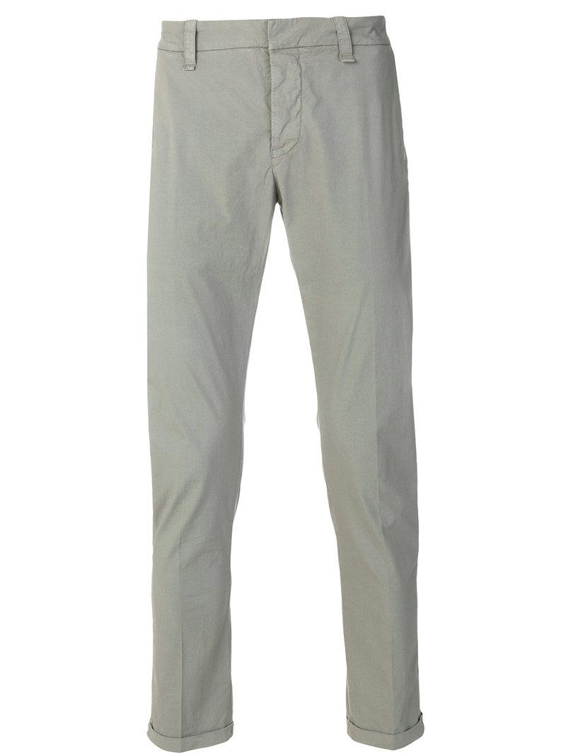 slim-fit trousers - Grey Dondup ZsLc107oH