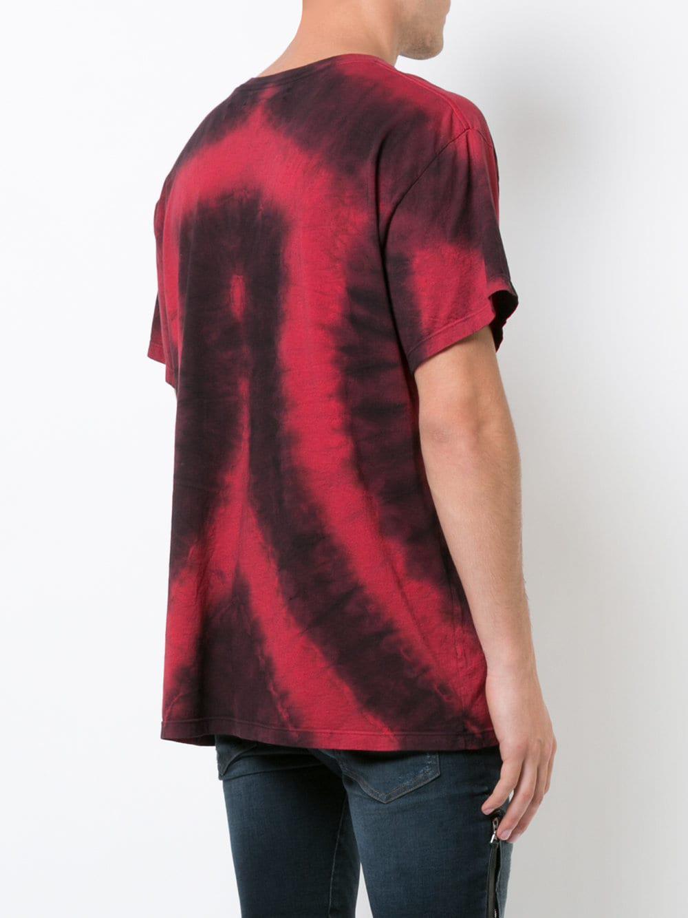 bee628c5 Amiri Heart Tie-dye T-shirt in Red for Men - Lyst