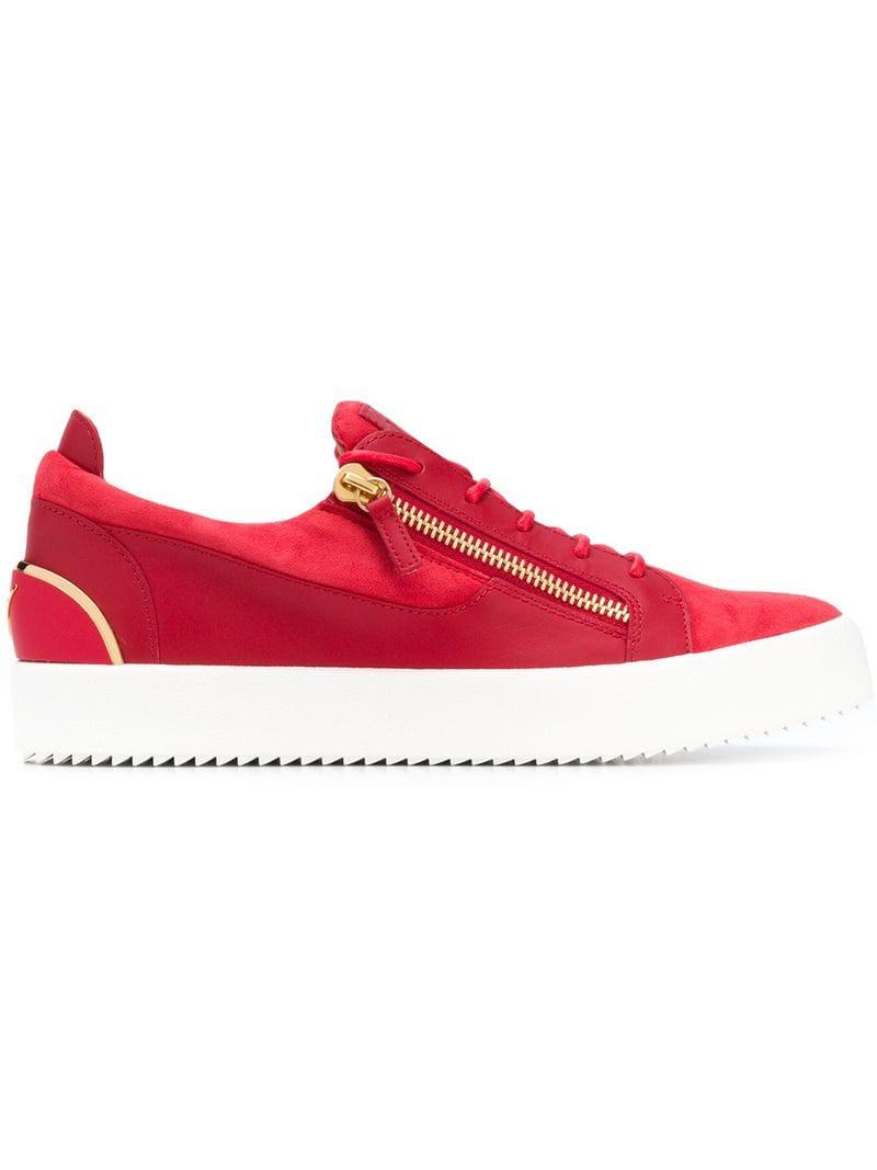 a8567c193792 Lyst - Giuseppe Zanotti Frankie Low Top Sneakers in Red for Men