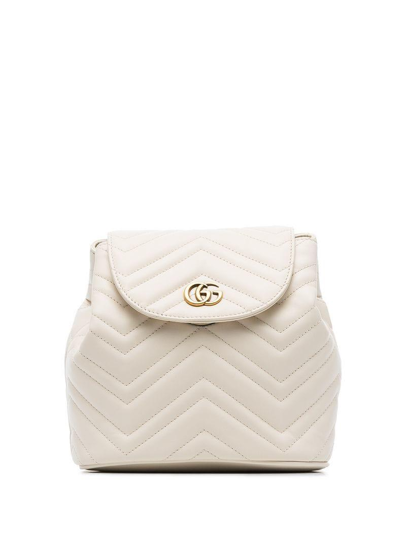 230794afb91b Gucci. Women s White Marmont Matelassé Leather Backpack