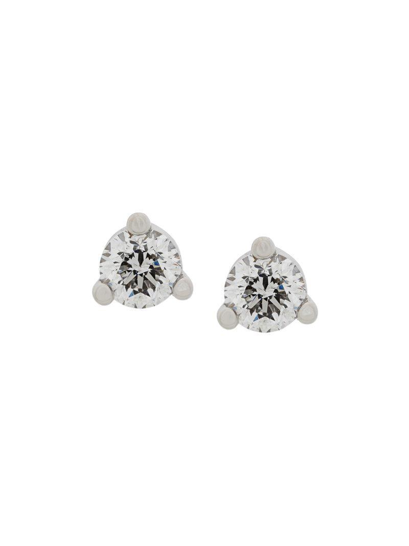 Delfina Delettrez 18kt white gold Dots Solitaire aquamarine and diamond earrings - Metallic 8aSuGRyJ2y