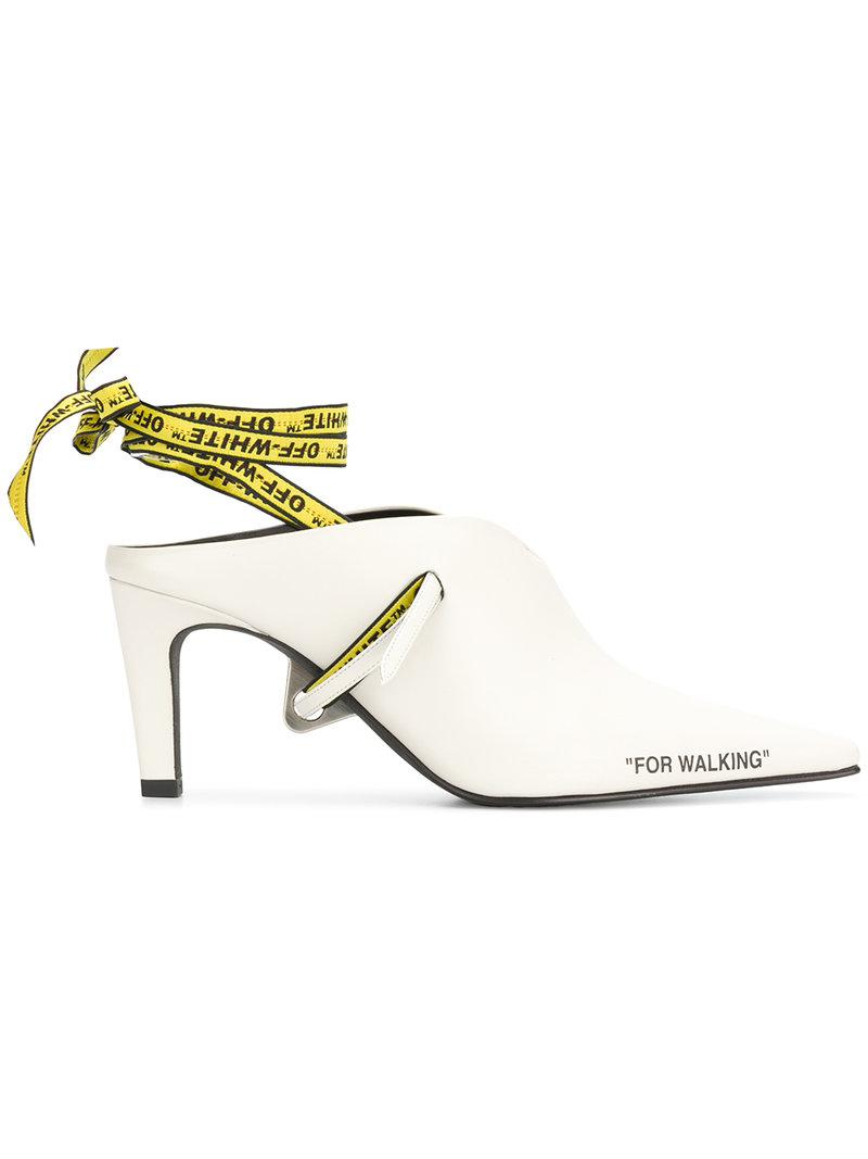 Off-white For Walking Mule Shoes in White Nappa Leather pIOt2K