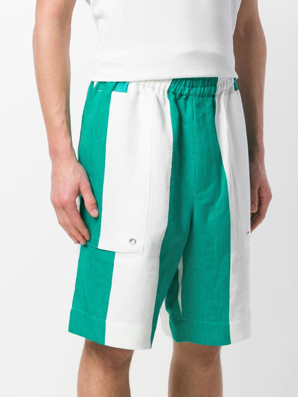 striped elasticated waist shorts - White mnMmSqOYb8