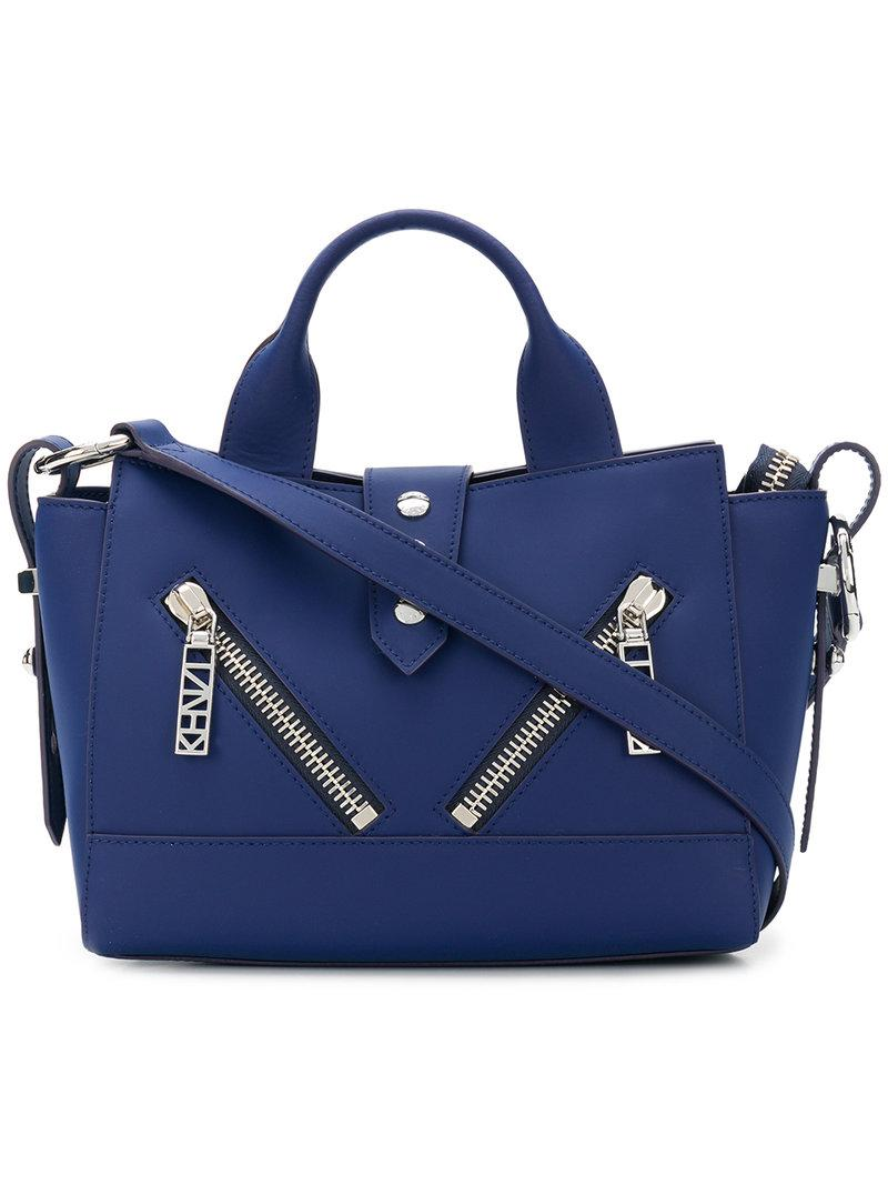 db99e8ae Kenzo Small Kalifornia Shoulder Bag in Blue - Lyst