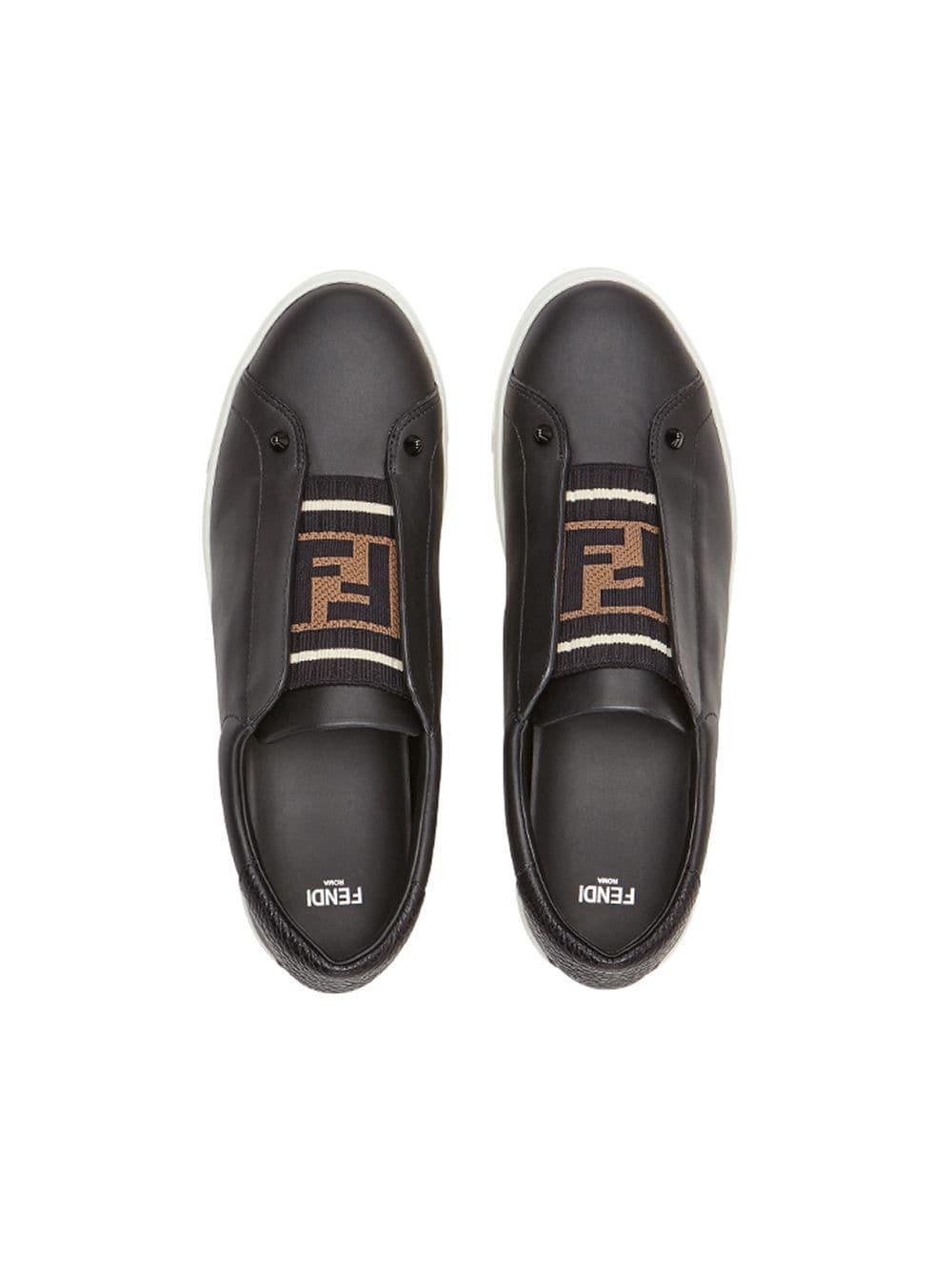 In Sneakers Zucca Fendi Slip Band On Lyst Black xav8wO