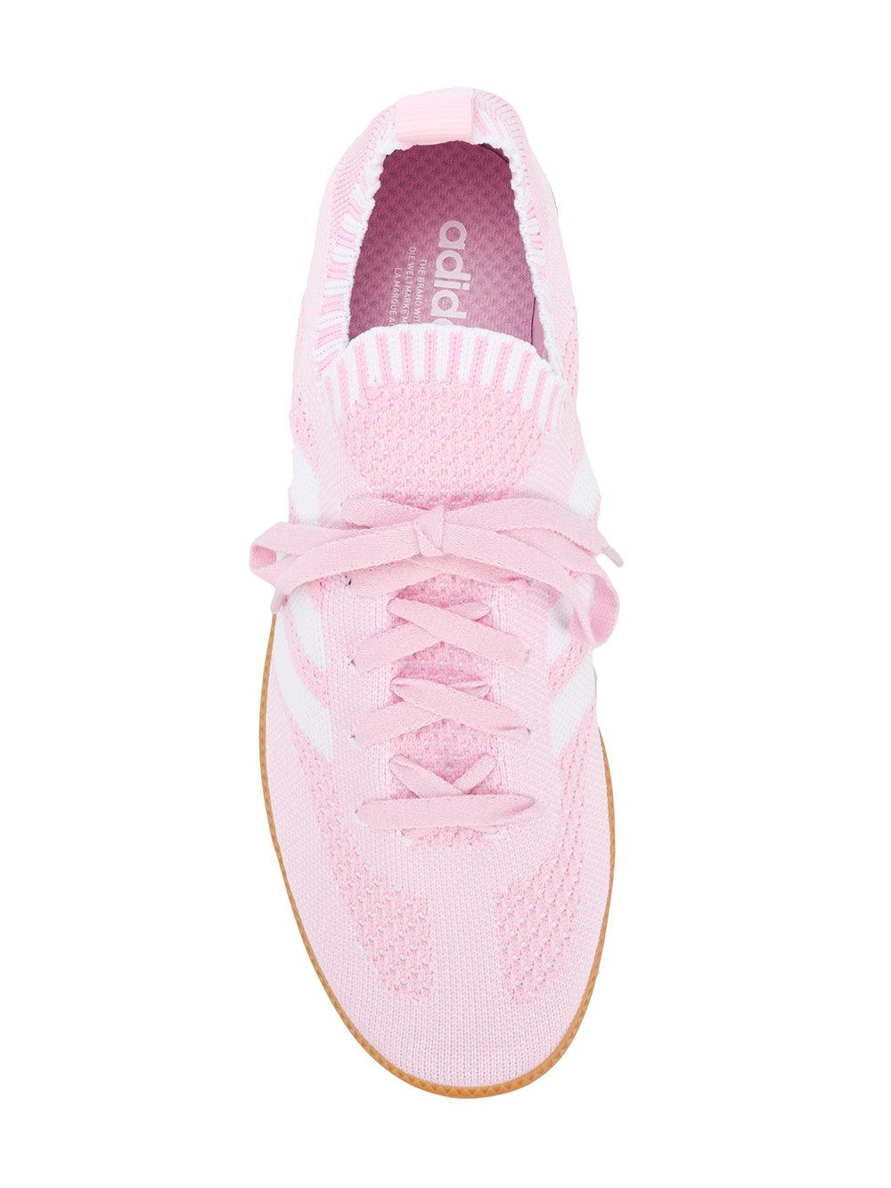 reputable site a2a50 aa608 adidas-Pink-Purple-Samba-Primeknit-Sneakers.jpeg