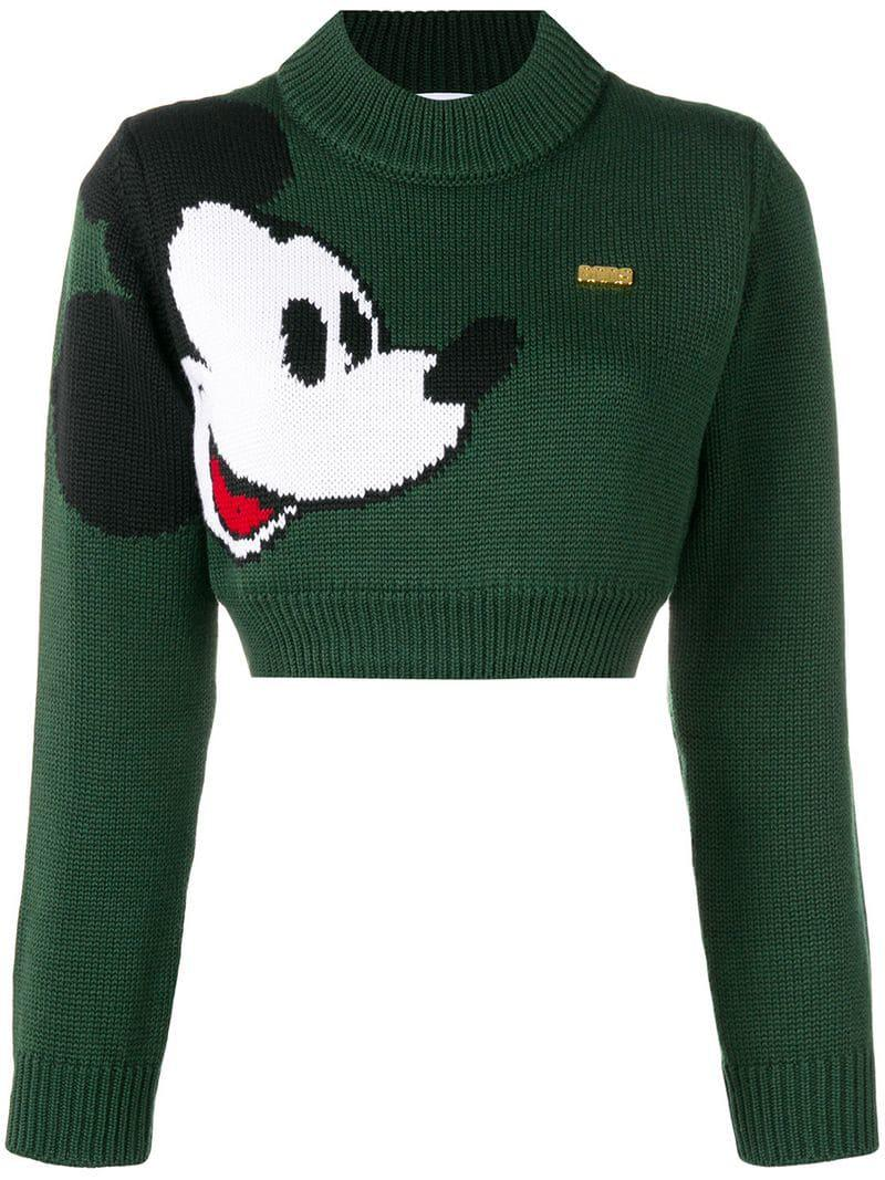 Green Mouse Knit Mickey Gcds Jumper Women's 6wqxWp